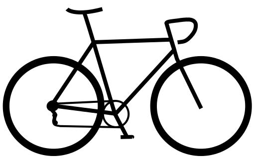 Drawn bike race bike #7
