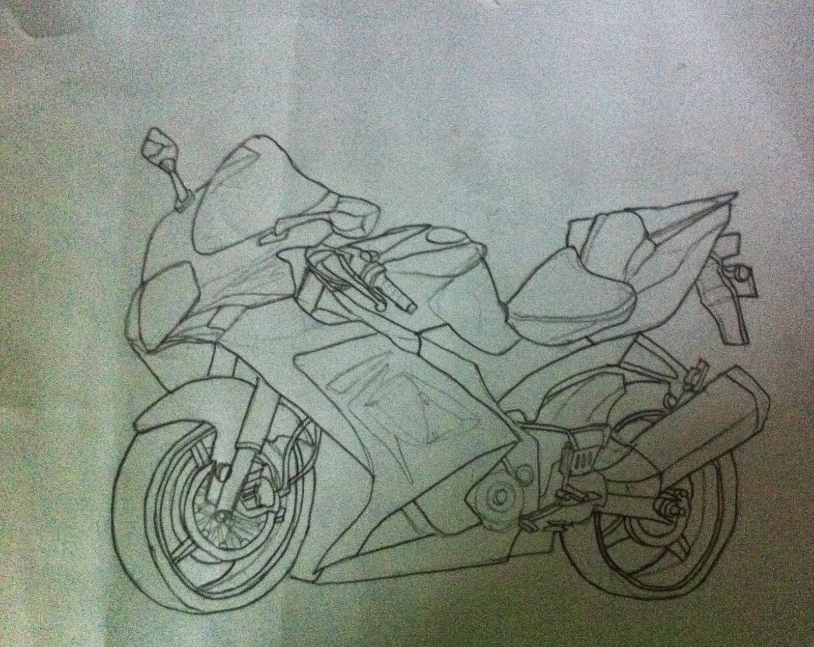 Drawn bike sketch Sketch Shading Techniques Make Drawing