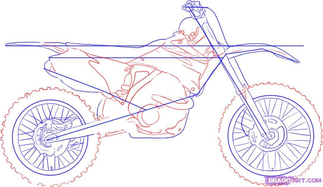 Drawn bike sport bike How by bike Transportation How