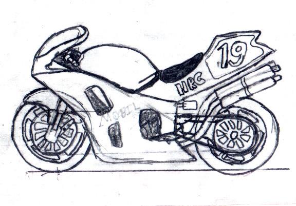 Drawn bike sport bike Sketch DeviantArt by of Sketch