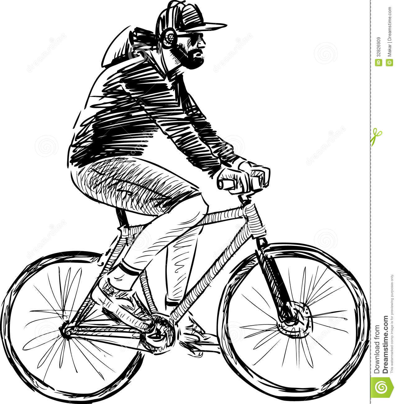 Drawn biker Person  a bicycle riding