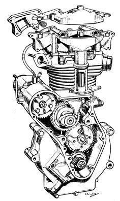 Drawn biker machine #7