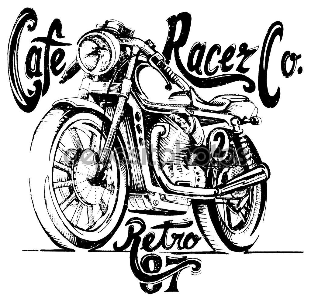 Drawn biker machine #6