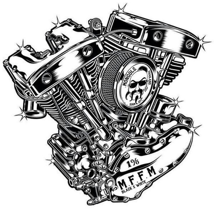 Drawn biker machine #4