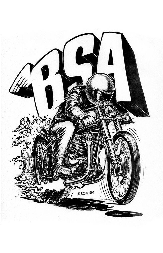 Drawn biker race bike #9