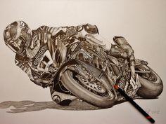 Drawn biker suzuki #8
