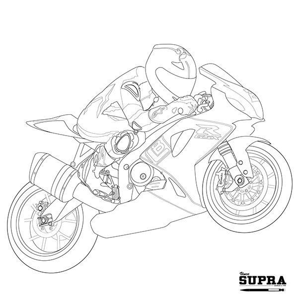 Drawn biker suzuki #9