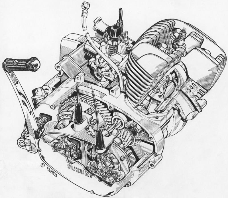 Drawn biker suzuki #11