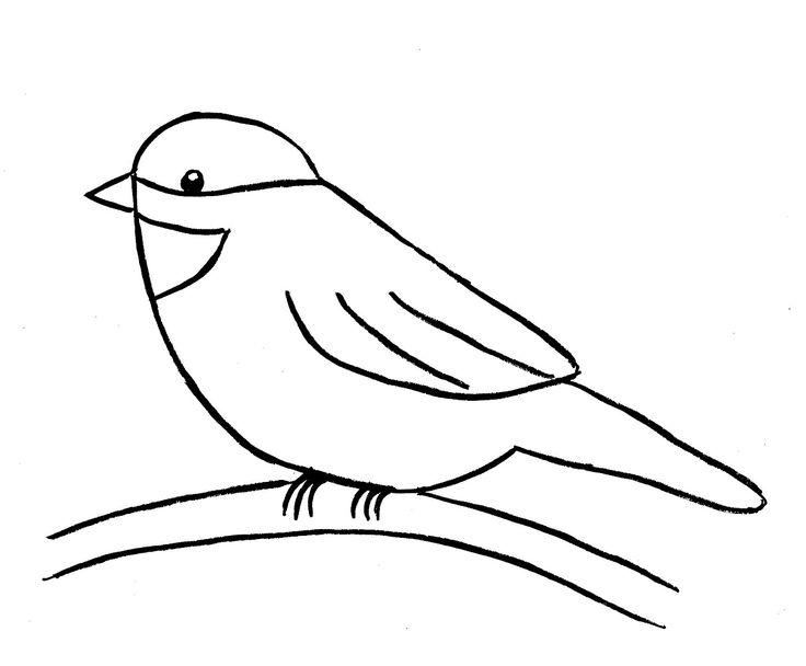 Drawn book easy By bird Simple Bird Pinterest