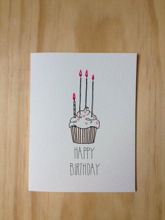 Drawn birthday Pinterest card #paperlove on Cute