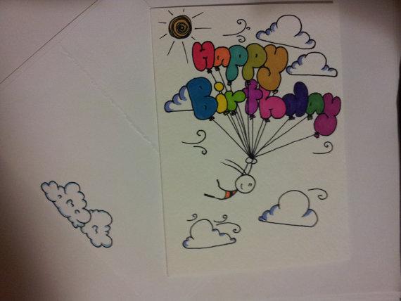 Drawn birthday Drawn CuteLilStuffs Etsy Hand Hand