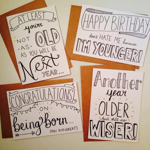 Drawn birthday Drawn Birthday  Bundle Cards