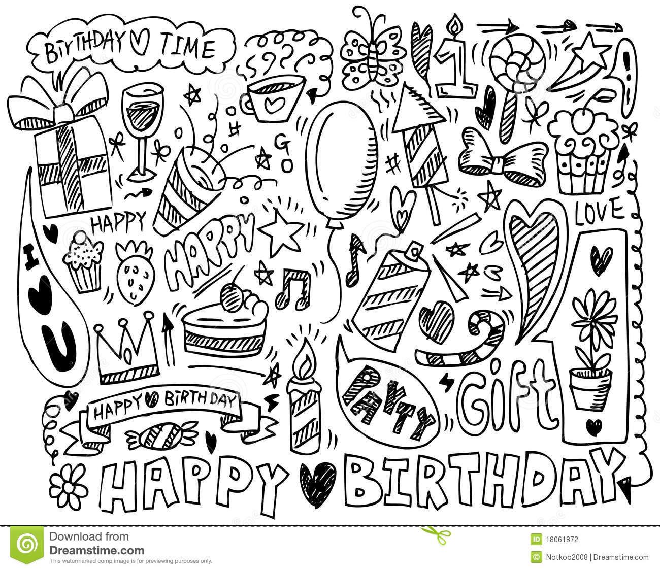 Drawn birthday A Birthday  Hand Set