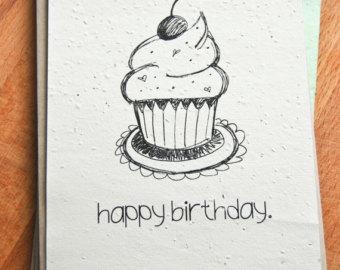 Drawn birthday Cupcake Etsy Crafthubs Popular drawn