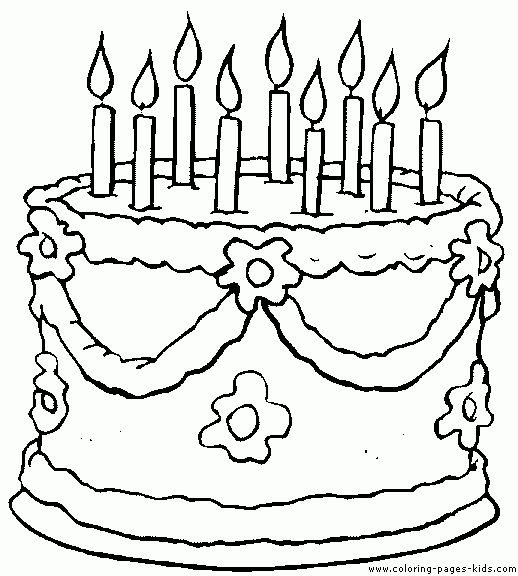 Color clipart birthday Images on cake Birthday Kids