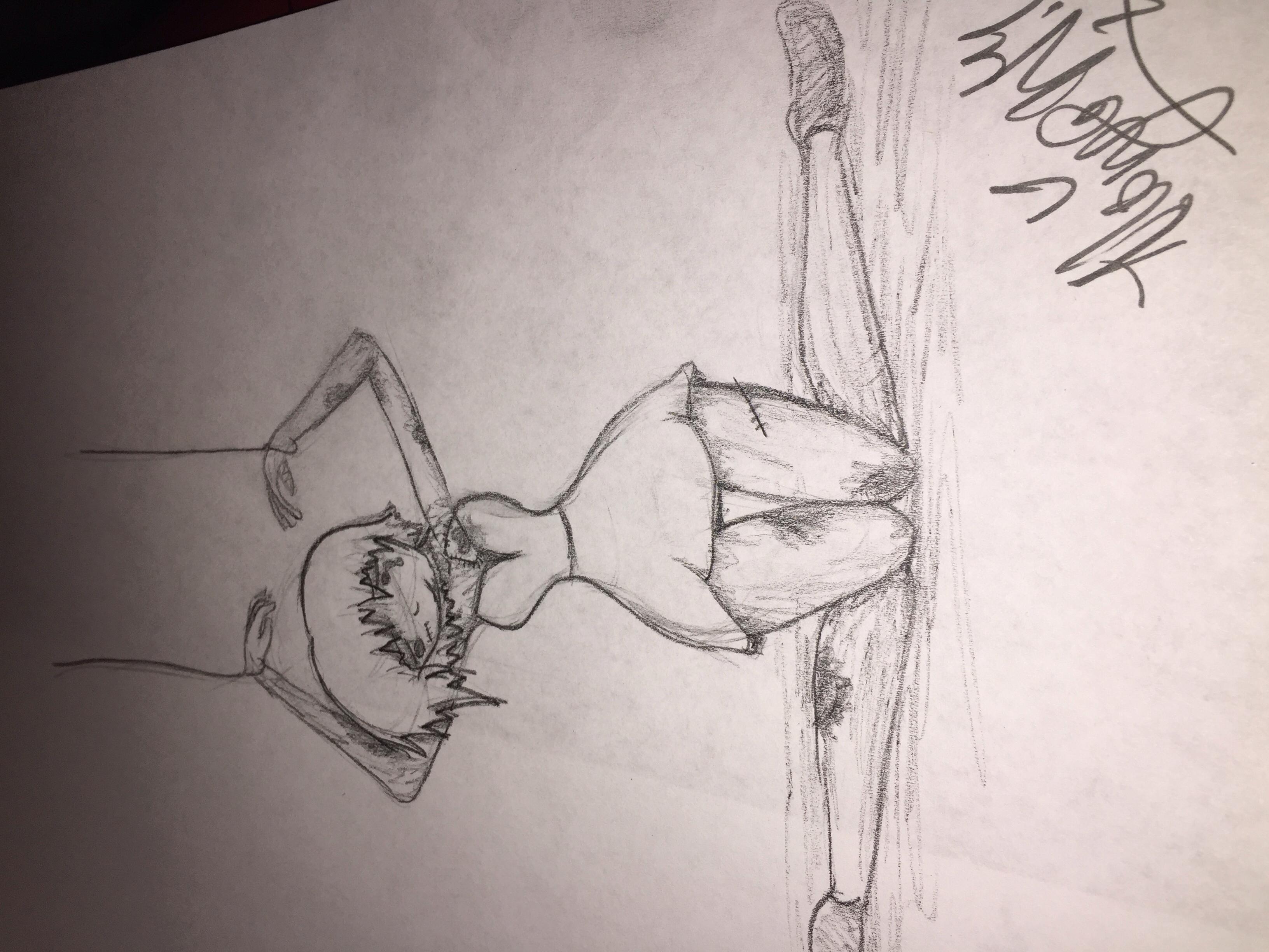 Drawn broken heart depression #2