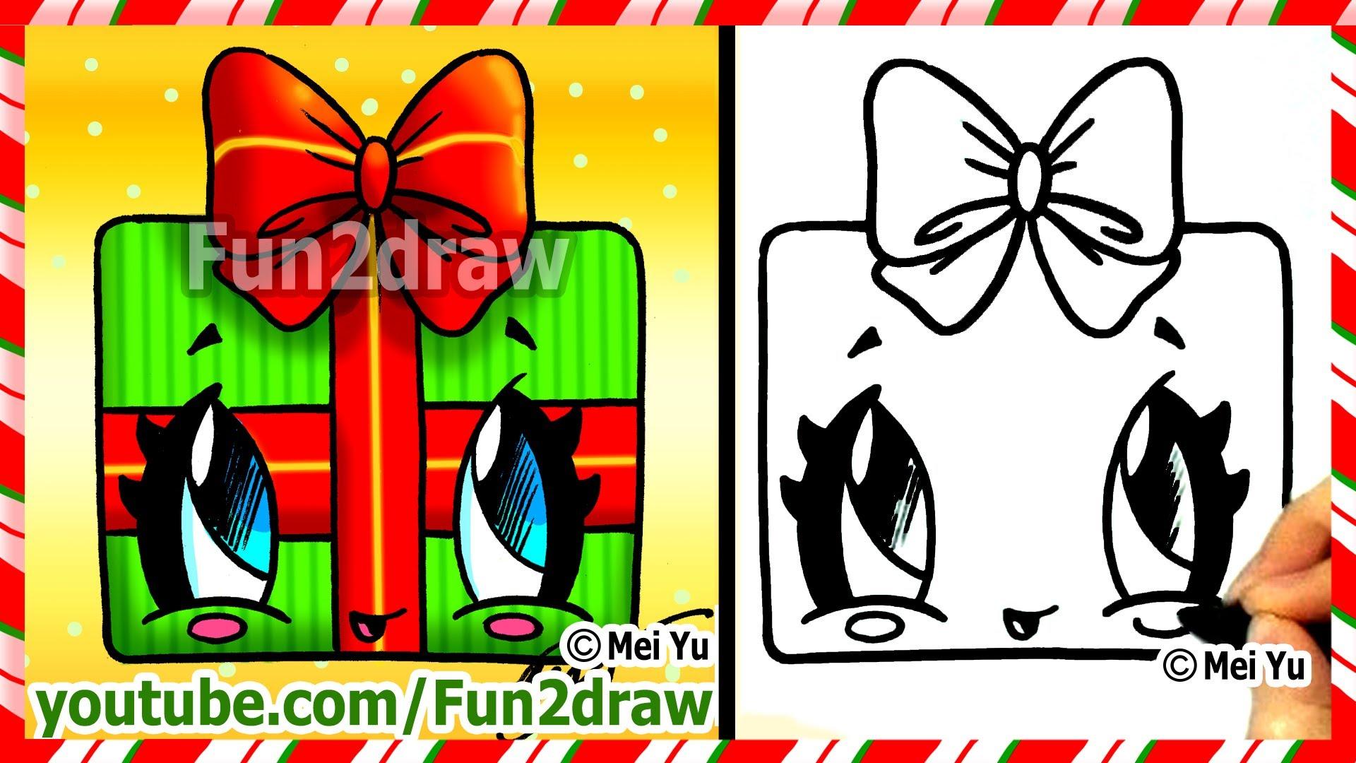 Drawn santa fun2draw Gift Bow Draw to How