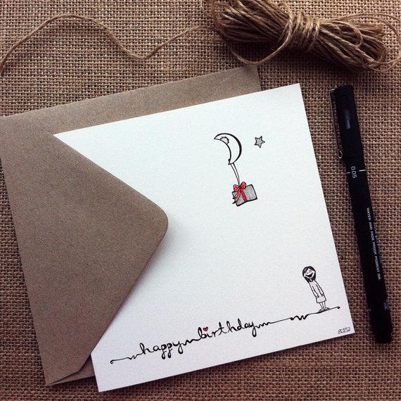 Drawn cards happy birthday Greeting Pinterest cute card drawn