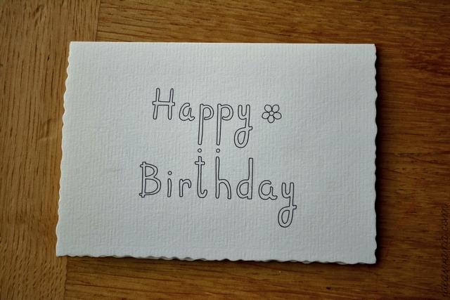 Drawn cards happy birthday Card Hand  ivana: idea
