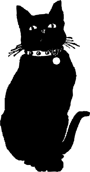 Drawn black cat At as: Art clip Clker