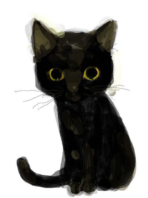 Drawn black cat Pinterest you??? look to IllustrationsBlack
