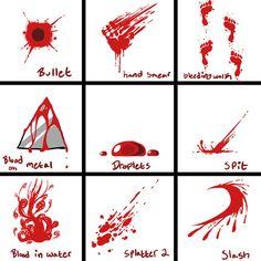 Drawn blood Manga/Anime blood; to to Sheet