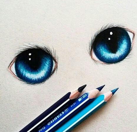 Drawn blue eyes An To blue Draw Examples