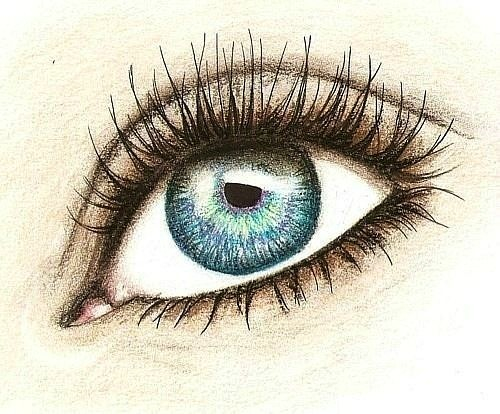 Drawn blue eyes Art to Eye draw my