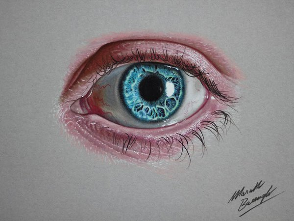 Drawn blue eyes On by Blue AtomiccircuS color