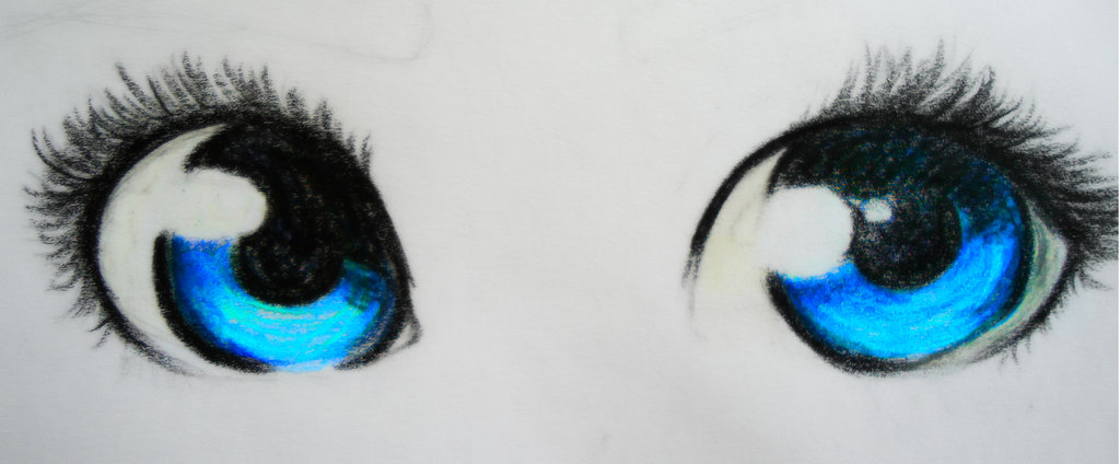 Drawn blue eyes DeviantArt PikaCienna Blue on Eyes