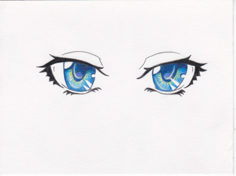 Drawn blue eyes DeviantArt Anyuiite Two on Blue