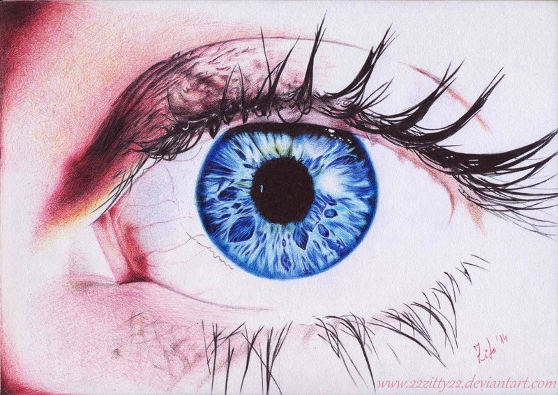 Drawn blue eyes DeviantArt Blue by Blue 22Zitty22