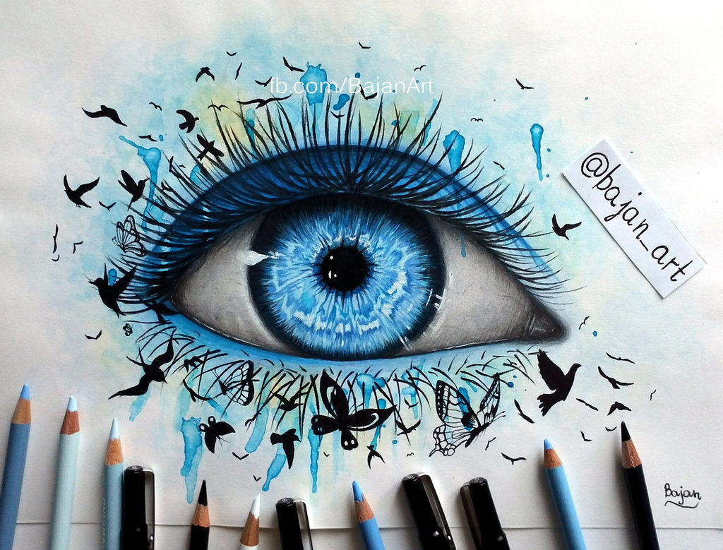 Drawn butterfly eye By on com Freedom on