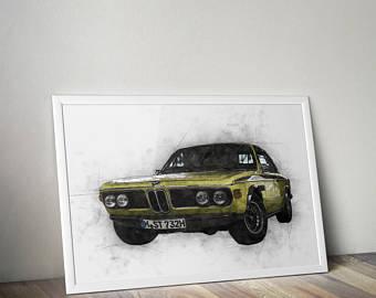Drawn bmw beginner Art BMW drawing wall BMW