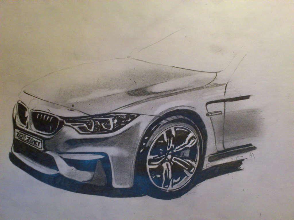 Drawn bmw bmw front 32758 Drawing M4 Front Bmw
