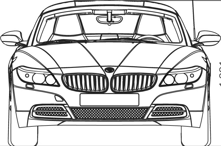 Drawn bmw bmw front 1 modeling Car com Part