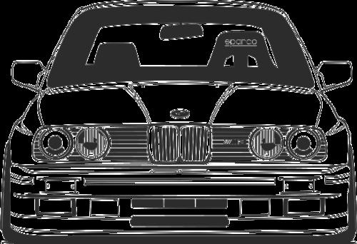 Drawn bmw bmw front Bmw BMW E30 and E30