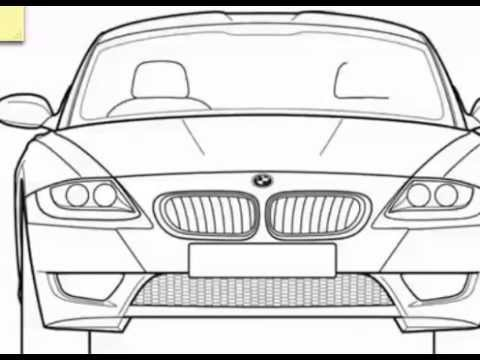 Drawn bmw bmw front Front front to a how