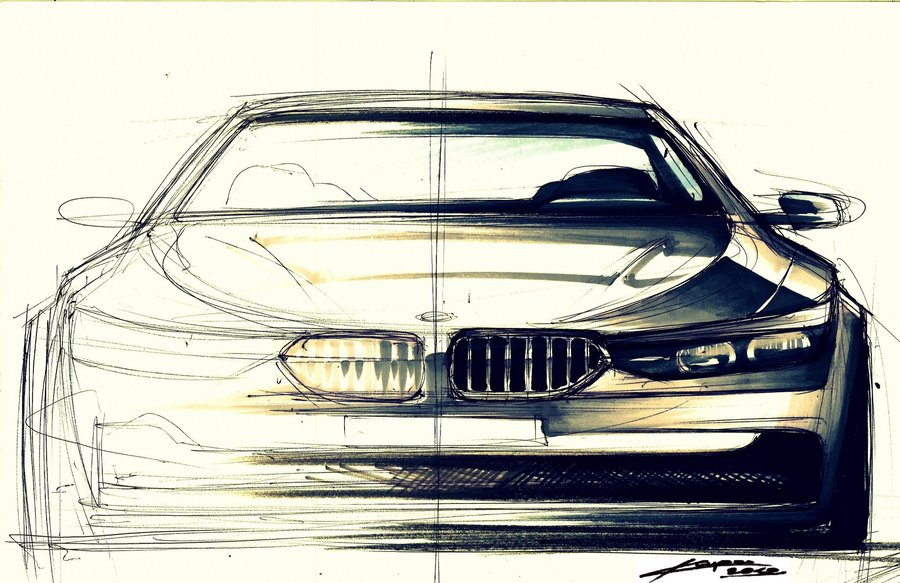 Drawn bmw bmw front Another & front Chrupson bmw