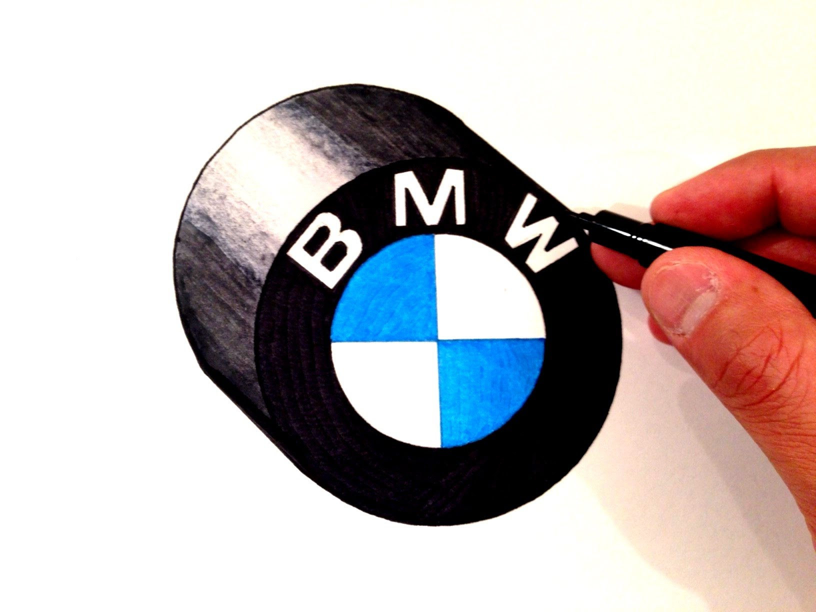Drawn bmw bmw logo How Draw BMW Logo BMW