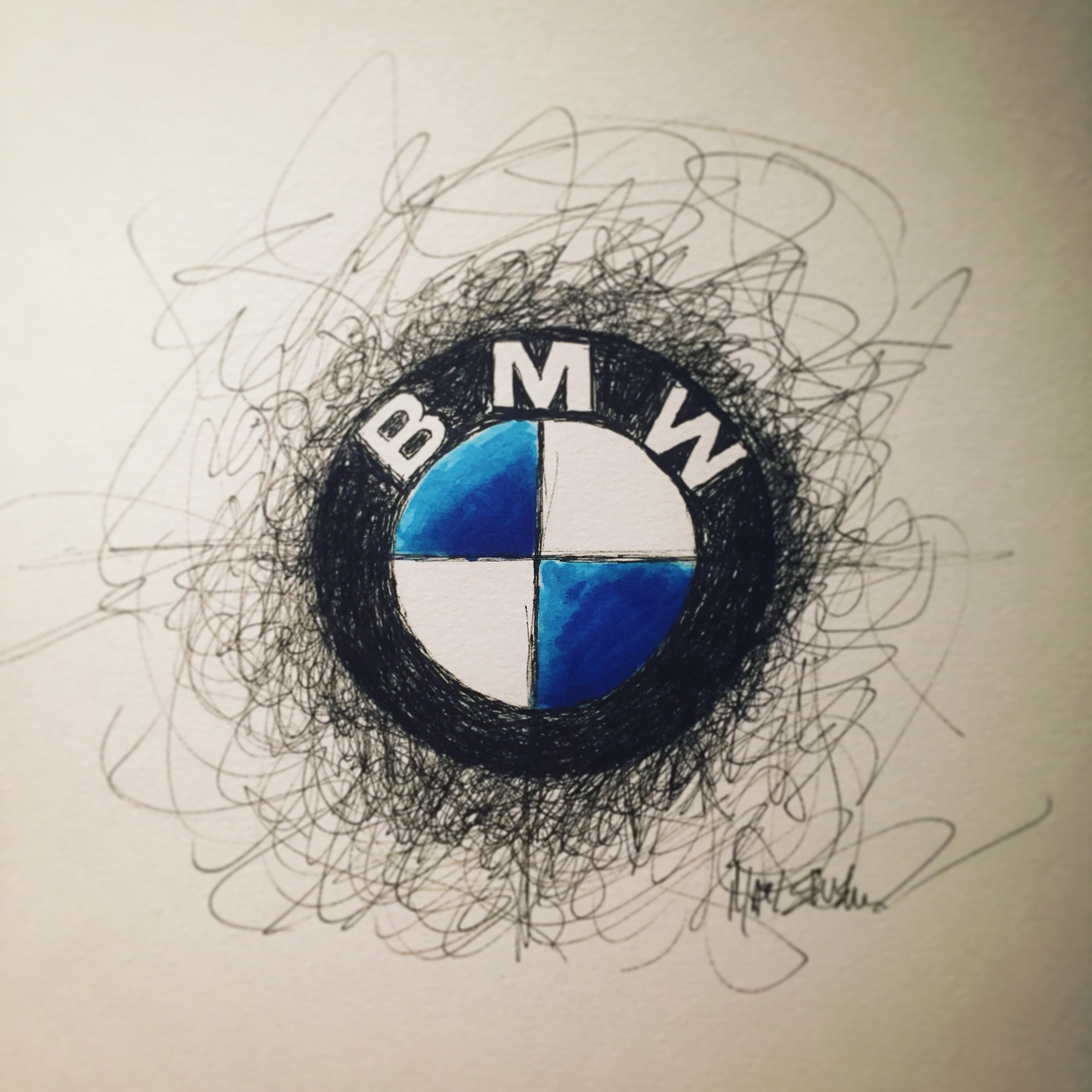 Drawn bmw bmw logo BMW logo and drawing logo