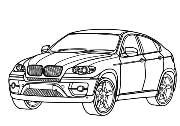 Drawn bmw bmw x6 Coloring BMW Car Colouring Colouring
