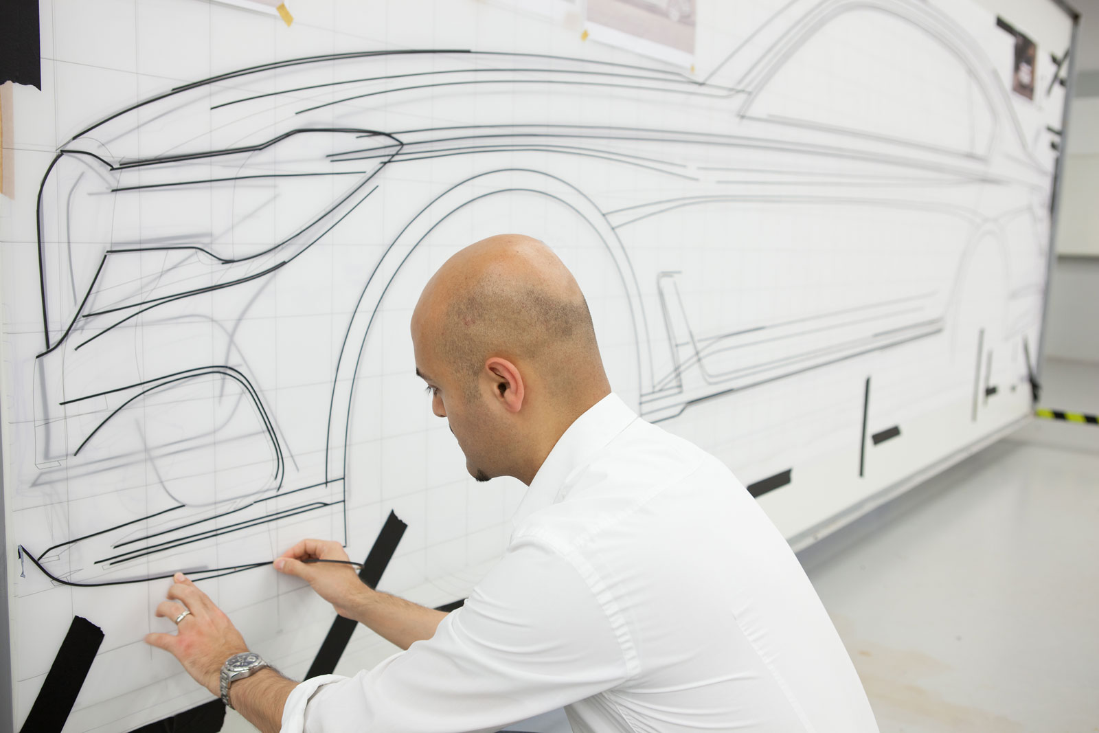 Drawn bmw car design BMW Fullsize Drawing  Process
