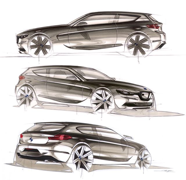 Drawn bmw car design BMW sketches am car! in