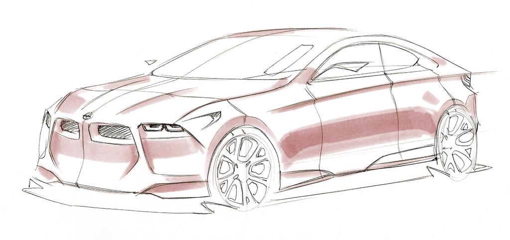 Drawn bmw car design Vision : BMW (