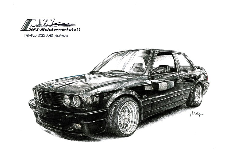 Drawn bmw color Drawings about on images pencils