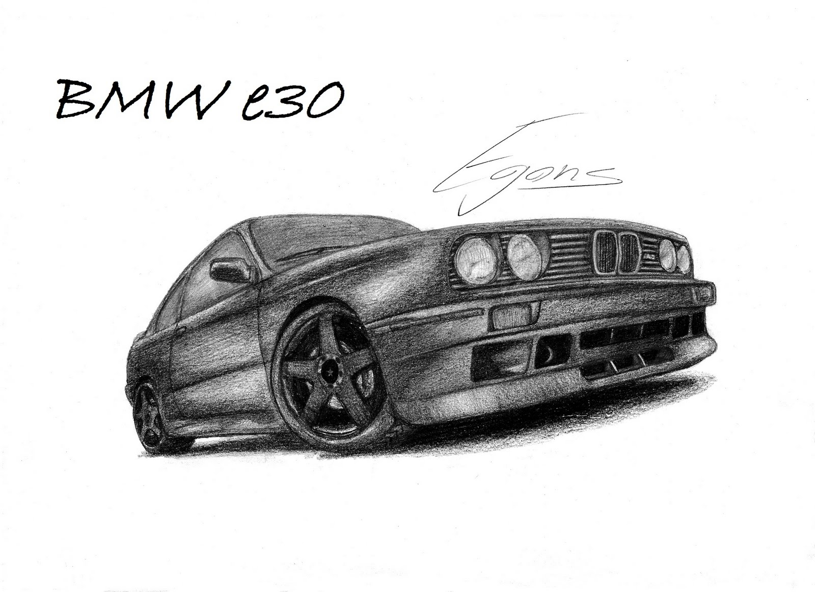 Drawn bmw e30 Sketch E30 BMW E30 Sketch