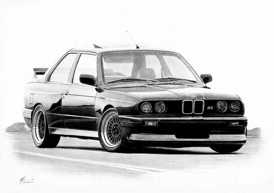 Drawn bmw e30 By on E30 Boss429 M3