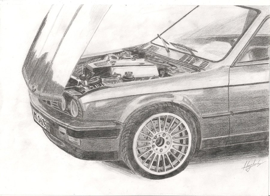 Drawn bmw e30 By on V8 LukaDesigns E30