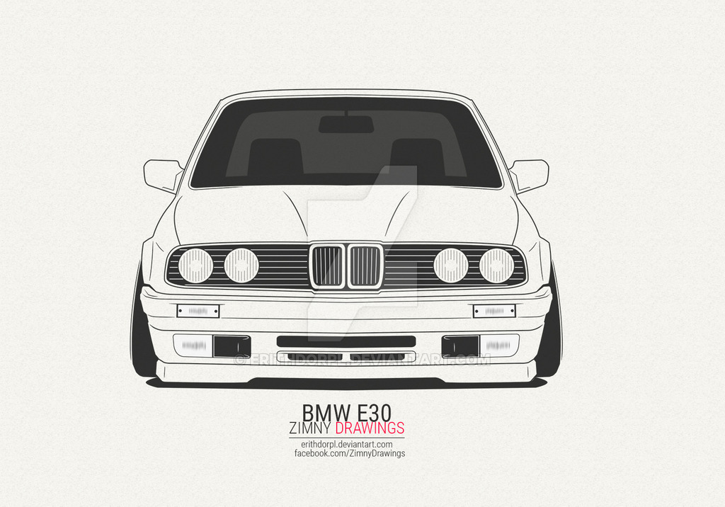 Drawn bmw e30 On by DeviantArt e30 erithdorPL